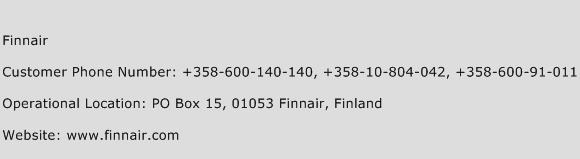 Finnair Phone Number Customer Service