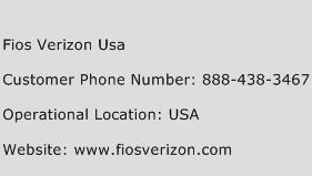 Fios Verizon Usa Customer Service Phone Number | Contact Number ...