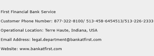 First Financial Bank Service Number First Financial Bank Service