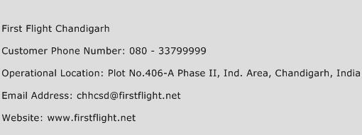 First Flight Chandigarh Phone Number Customer Service