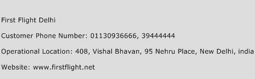 First Flight Delhi Phone Number Customer Service