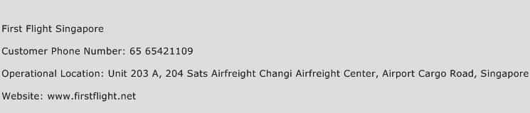 First Flight Singapore Phone Number Customer Service