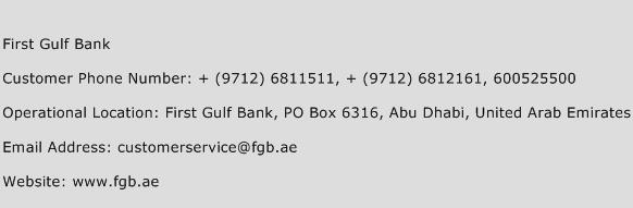 first bank customer service number