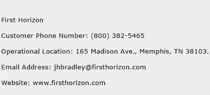 First Horizon Phone Number Customer Service