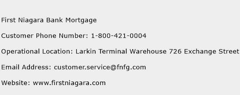 First Niagara Bank Mortgage Phone Number Customer Service