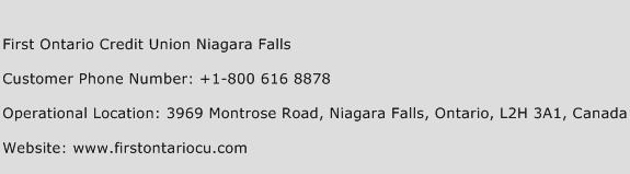 First Ontario Credit Union Niagara Falls Phone Number Customer Service