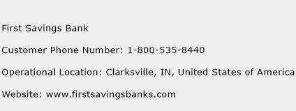 First Savings Bank Phone Number Customer Service