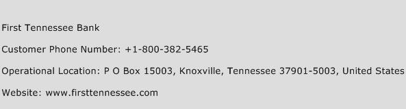 First Tennessee Bank Phone Number Customer Service