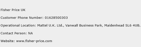 Fisher Price UK Phone Number Customer Service