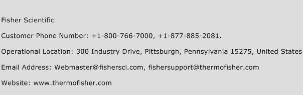 Fisher Scientific Phone Number Customer Service
