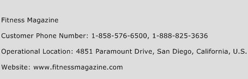 Fitness Magazine Phone Number Customer Service