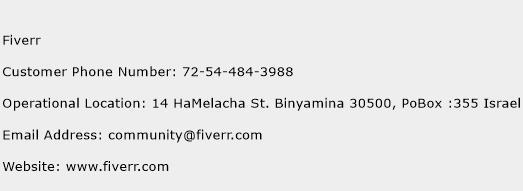 Fiverr Phone Number Customer Service