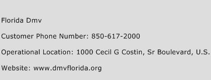 Florida DMV Phone Number Customer Service