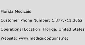 Florida Medicaid Phone Number Customer Service