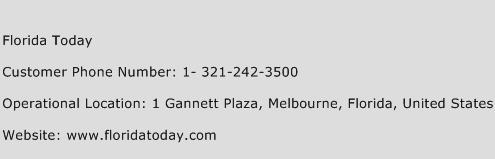 Florida Today Phone Number Customer Service