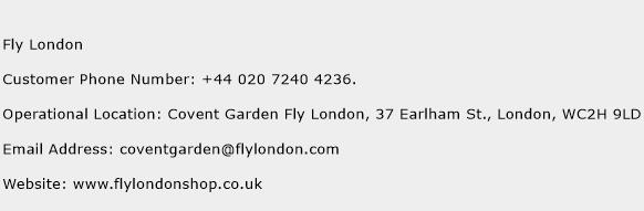 Fly London Phone Number Customer Service