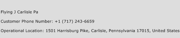 Flying J Carlisle Pa Phone Number Customer Service