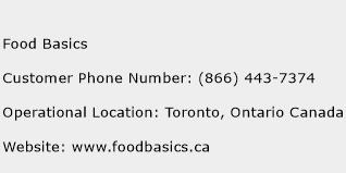 Food Basics Phone Number Customer Service