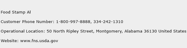 Food Stamp Al Phone Number Customer Service