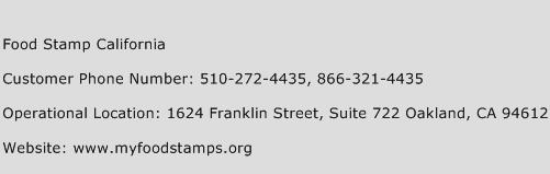 Food Stamp California Phone Number Customer Service