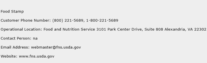 Food Stamp Customer Service Phone Number Contact Number Toll
