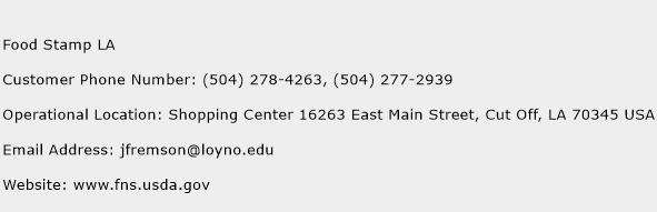 Phone Number For Food Stamps In Louisiana