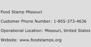 Missouri Food Stamps Phone Number Food