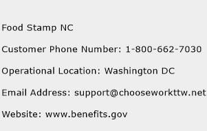 Food Stamp NC Phone Number Customer Service