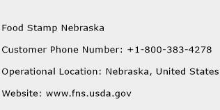 Food Stamp Nebraska Phone Number Customer Service