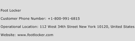Foot Locker Phone Number Customer Service