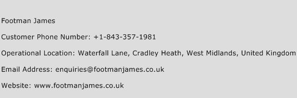 Footman James Phone Number Customer Service