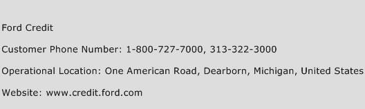 Ford Credit Phone Number Customer Service