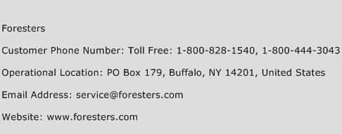 Foresters Phone Number Customer Service
