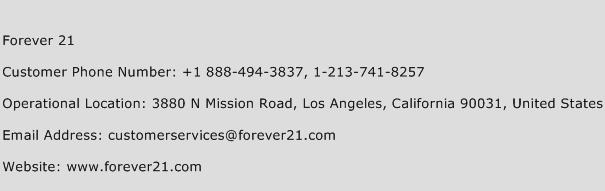 forever 21 customer service
