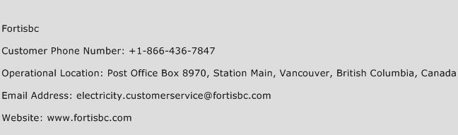 Fortisbc Phone Number Customer Service