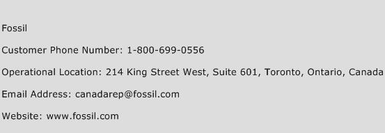 Fossil Phone Number Customer Service