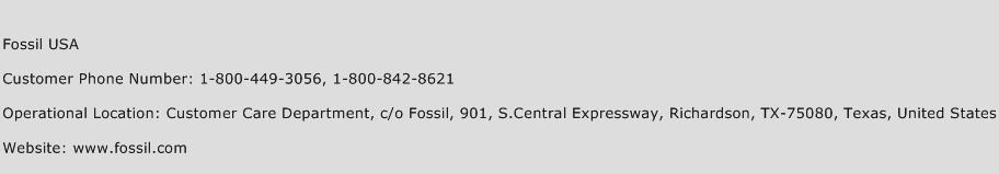 Fossil USA Phone Number Customer Service