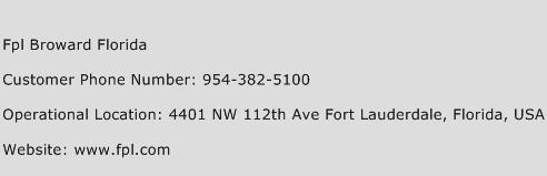 Fpl Broward Florida Phone Number Customer Service