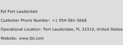 Fpl Fort Lauderdale Phone Number Customer Service