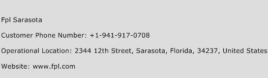 Fpl Sarasota Phone Number Customer Service