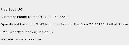 Free Ebay UK Phone Number Customer Service