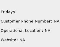 Fridays Phone Number Customer Service