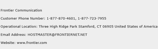 Frontier Communication Phone Number Customer Service