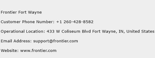 Frontier Fort Wayne Phone Number Customer Service