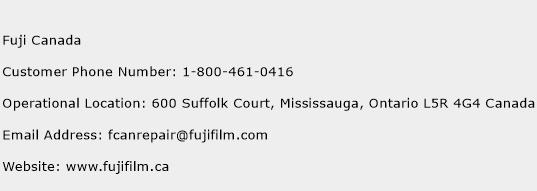 Fuji Canada Phone Number Customer Service