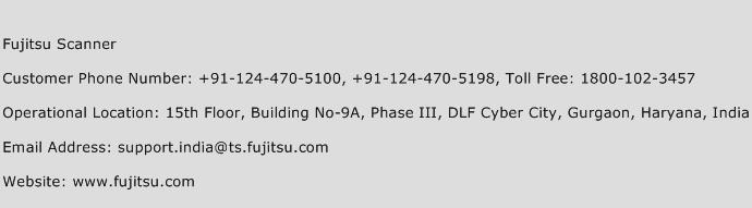 Fujitsu Scanner Phone Number Customer Service
