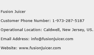 Fusion Juicer Phone Number Customer Service