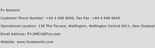 Fx Network Number