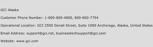 GCI Alaska Phone Number Customer Service