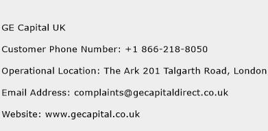 GE Capital UK Customer Service Phone Number | (Toll Free) Contact ...